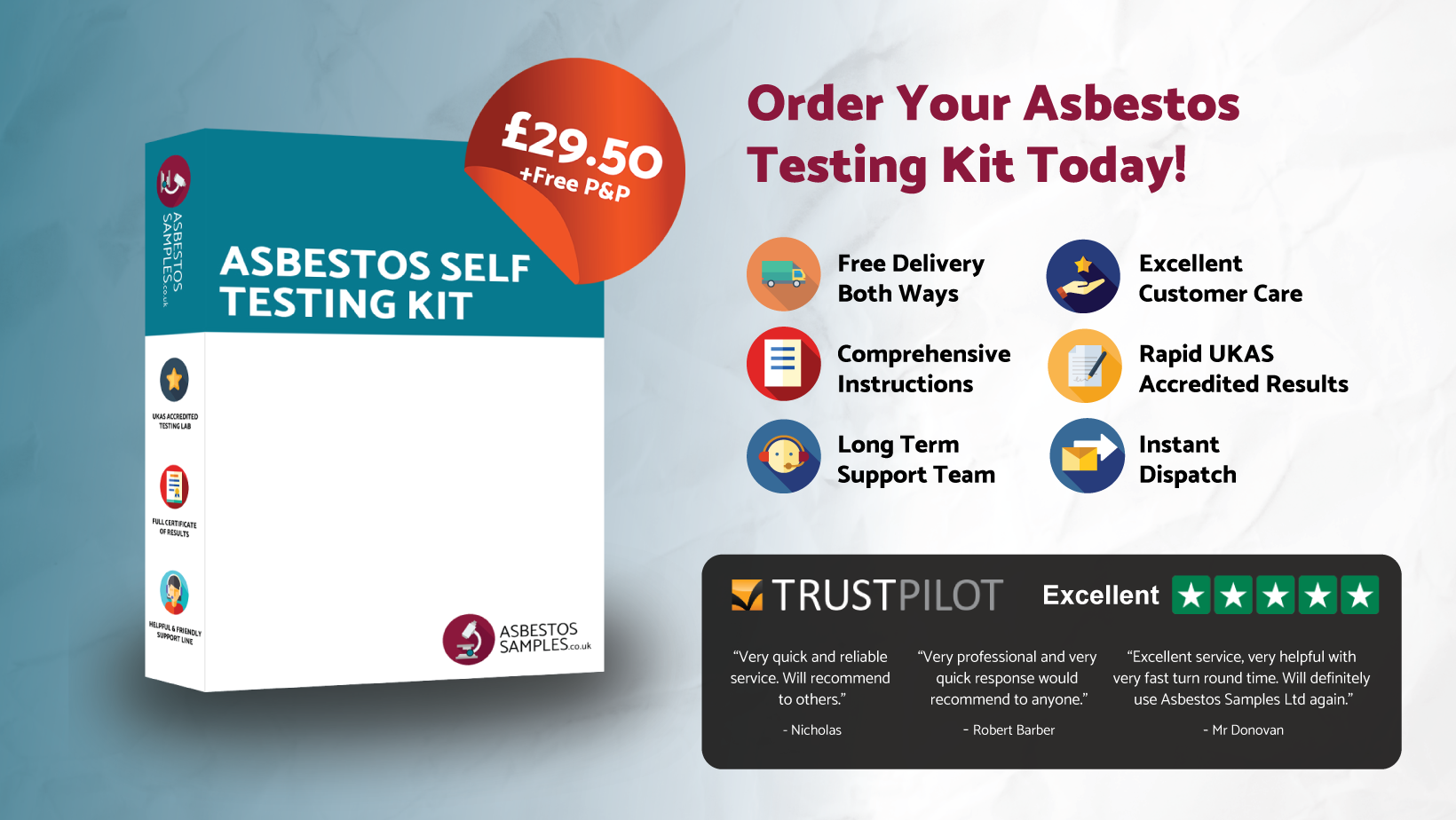 development and testing of asbestos free Our asbestos testing services help you achieve compliance with a complete suite of asbestos testing requirements.